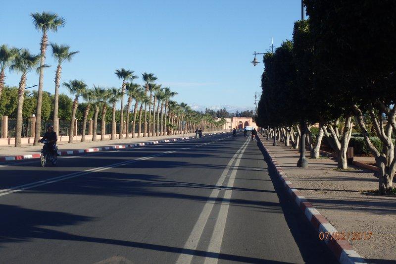 The wide avenues outside the Medina
