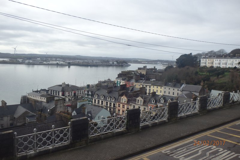 View over Cobh Harbour from the Cathedral