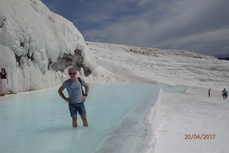 The white terraces at Pamukkale