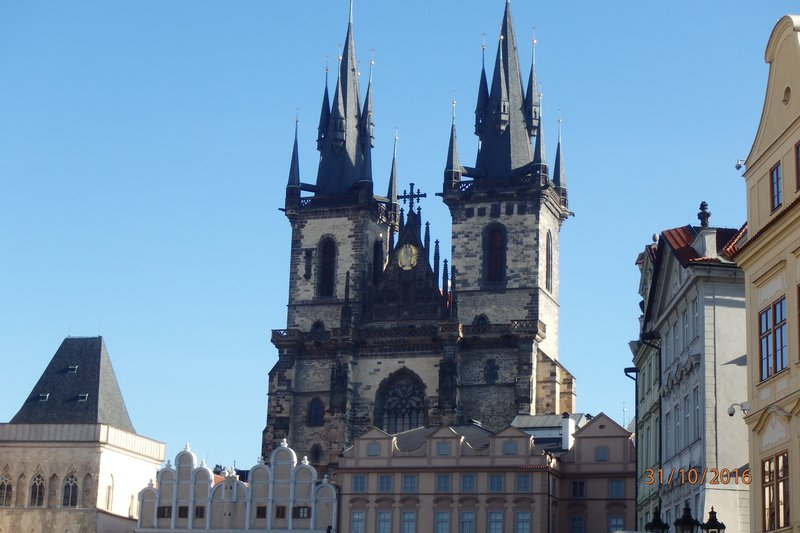 Buildings in Prague -  The Church of Mother of God before Týn