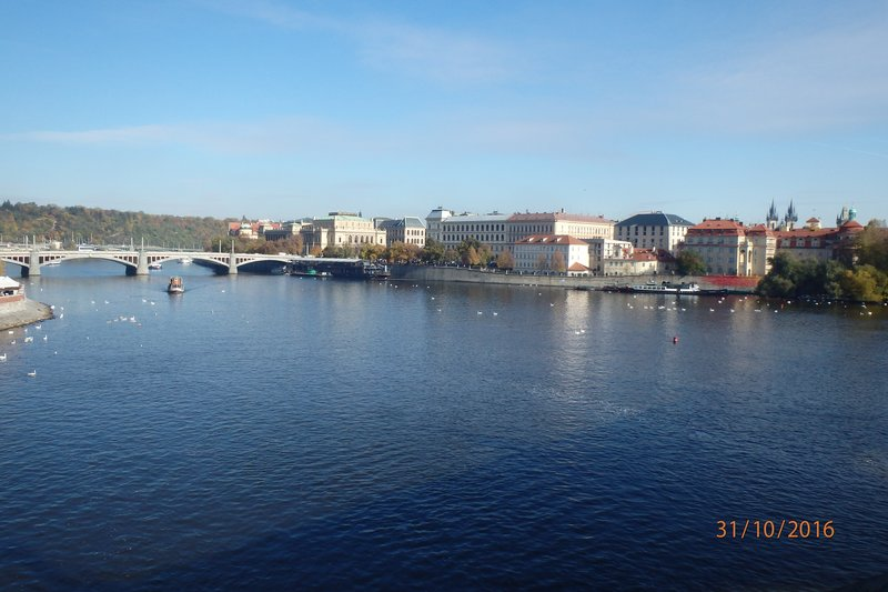 Views along the Vltava River which cuts through the middle of the city