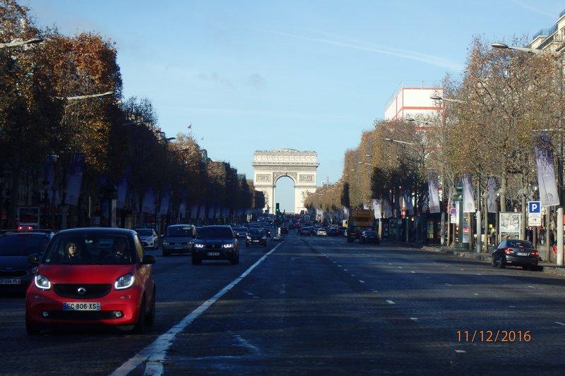 Up the Champs-Élysées