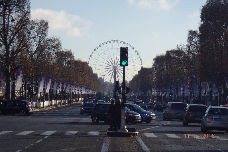 Down the Champs-Élysées