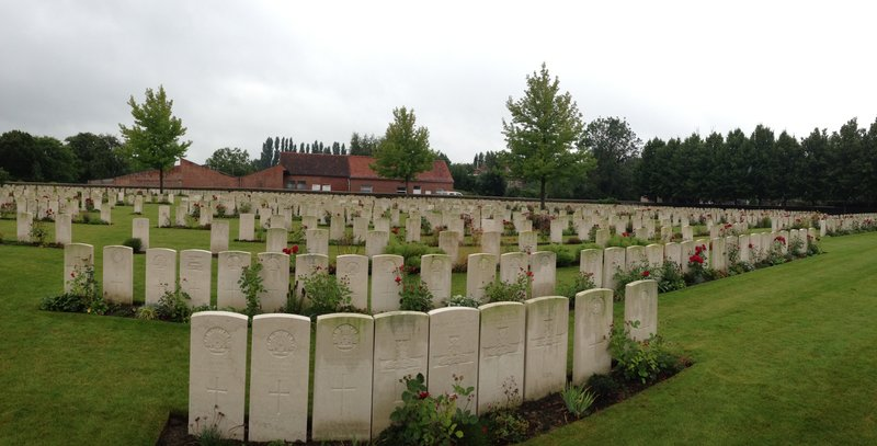 One of many War cemeteries in Ypres