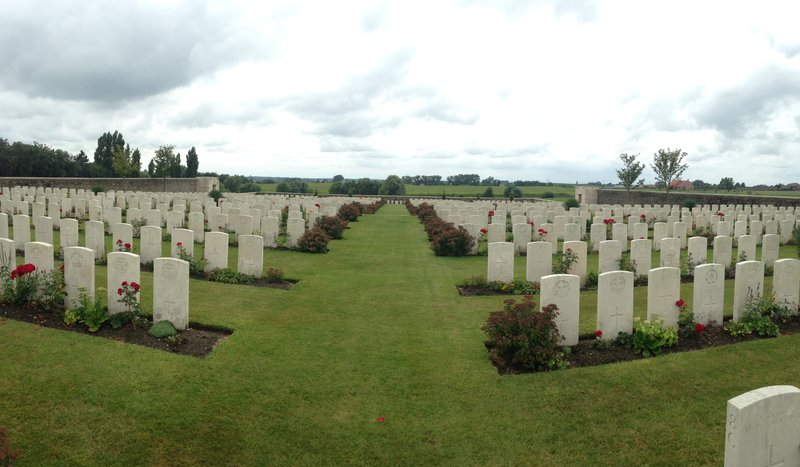 Allied war cemetary at Passchendaele