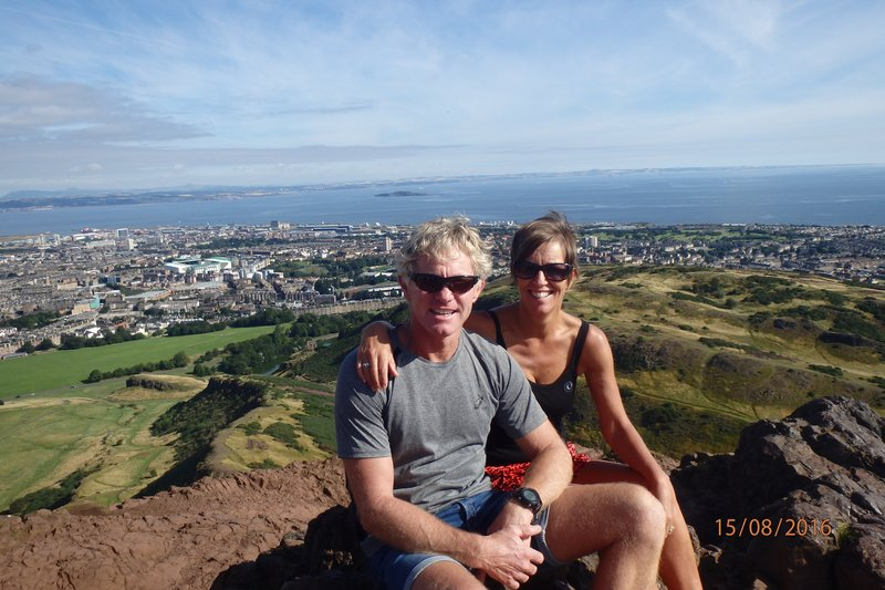 A morning walk up 'Arthurs Seat' above Edinburgh