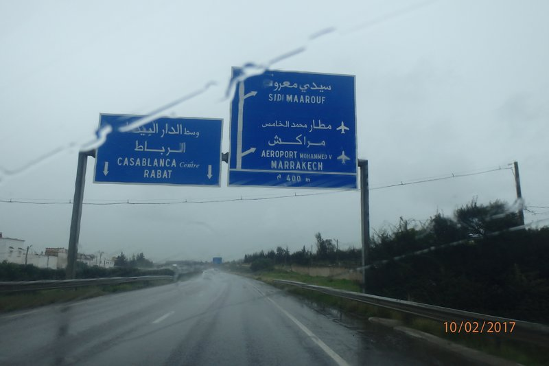 A wet day on the road!