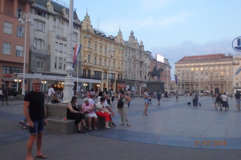 The centre of Zagreb - Ban Jelačić Square
