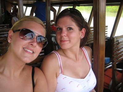 Caz and I on boat