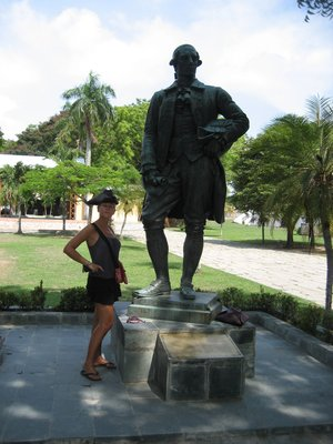 Me with William Light at Fort Cornwallis