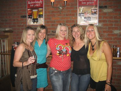 Vicky,Hannah, Helen, Becky and me