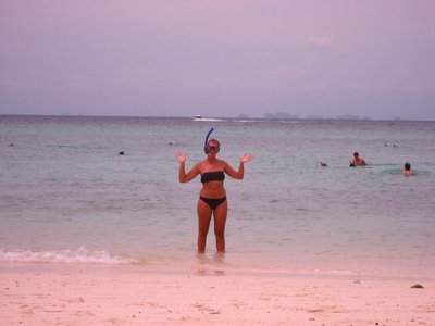 Me ready for my snorkel