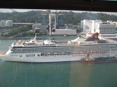 Cruise ship from cable car