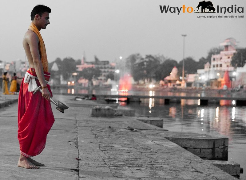 Evening Aarti at Shipra River,Ujjain,India