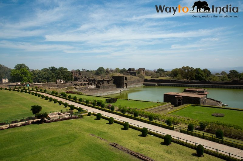 Lawns Opposite Jahaz Mahal  at Mandu,Madhya Pradesh,india