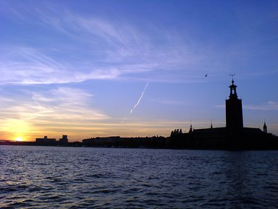 Stockholm City Hall at sunset