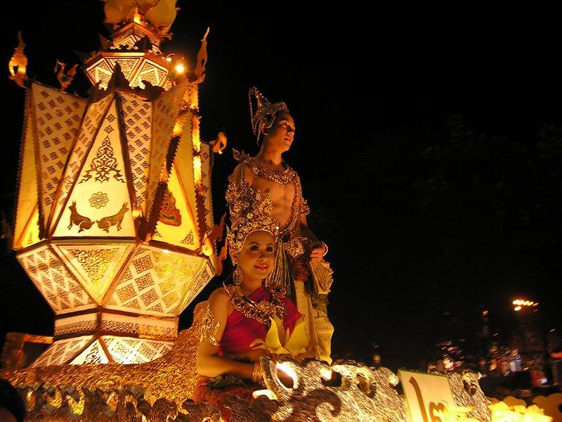 Chiang Mai Lichtfestival - Umzug