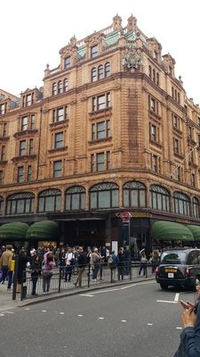 We caught the bus to Harrods
