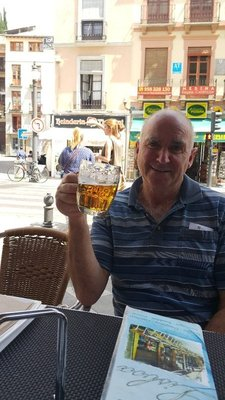 Geoff with his beer
