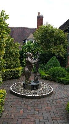 Warwick medieval Hospital garden