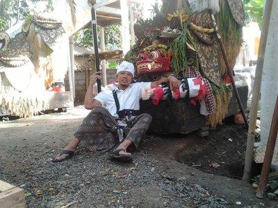 Holy ritual in Bali