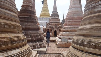 Stupas by Lake Inle