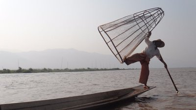 Man fishing in Lake Inle