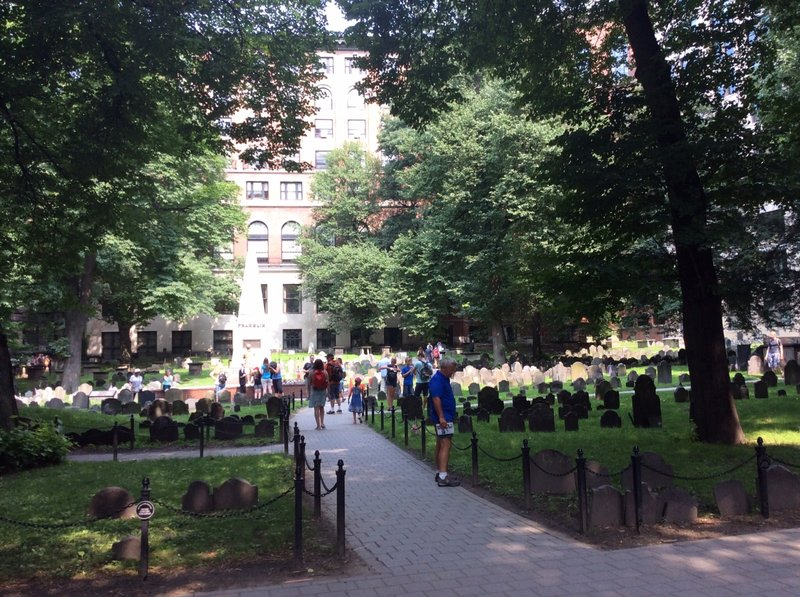 The Freedom Trail - old Granary Burying Ground