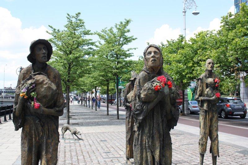 Day 45 Dublin Famine Statues