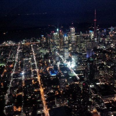 Toronto night flight