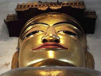 Manuha Temple Buddha Statue