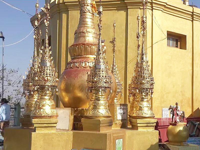 Taung Kalat Temple Stupas