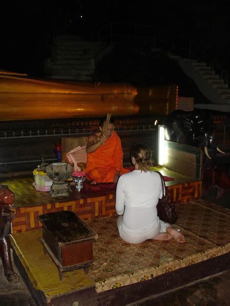 Monk blessing Melissa