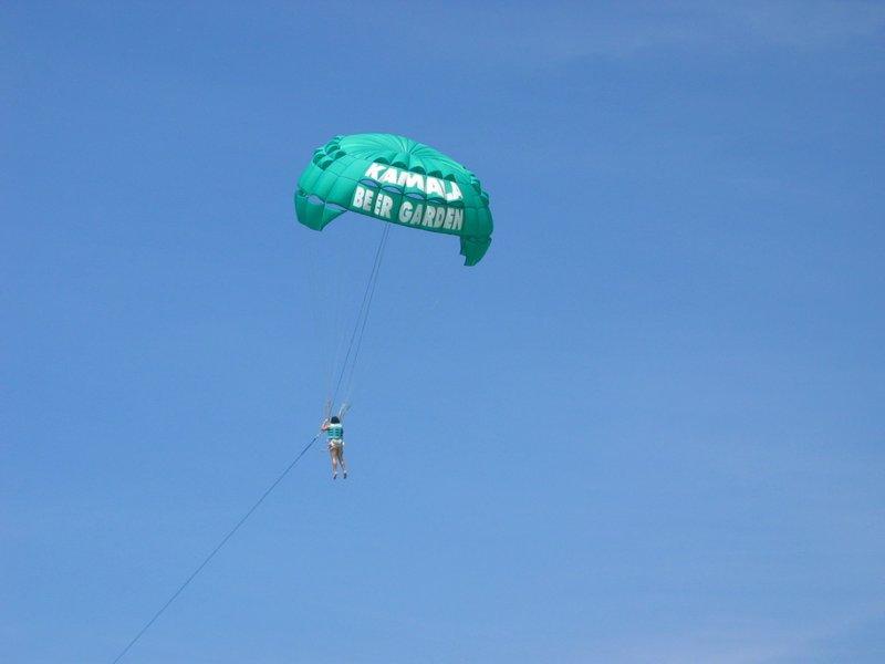 parasailing at Hat Kamala