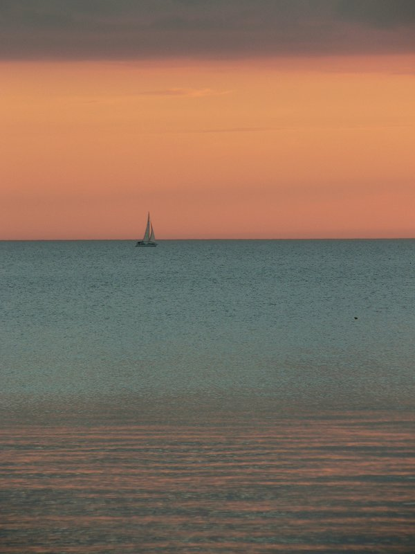 Florida sailboat at sunset
