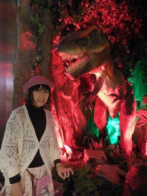 Dinosaur display at Hamad International Airport