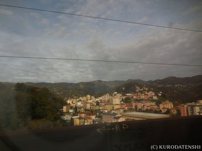 View from the train on the way to La Spezia
