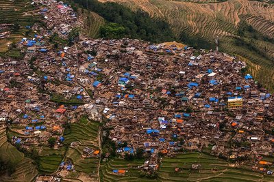 Barpak village after earthquake