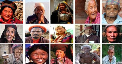 Various ethnic groups people in Nepal