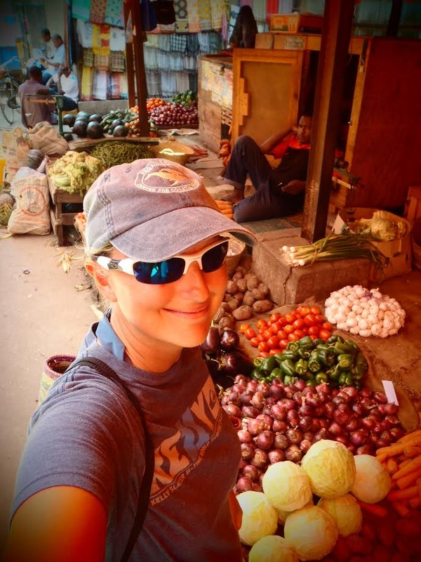 Zanzibar Food Market Selfie