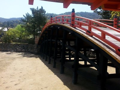 The bridge at the Itsukushima Shrine