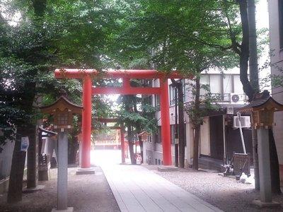 Torii in the middle of Shinjuku - Hanazono