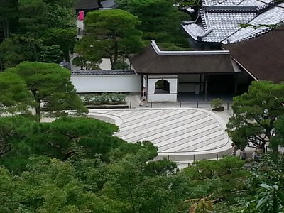The raked garden of Ginkakuji