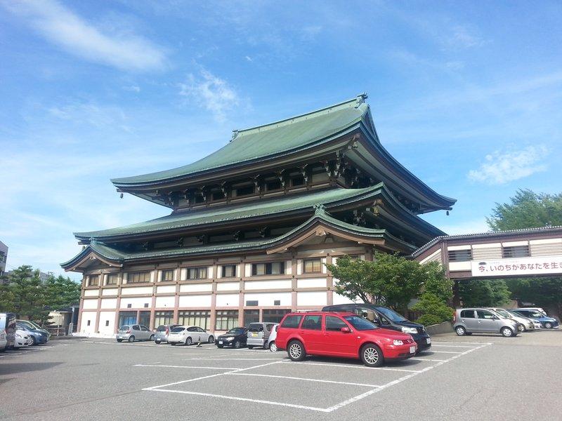 Major temple in central Kanazawa