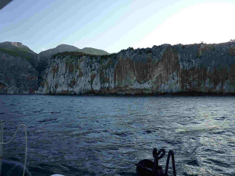 Une falaise impressionnante
