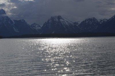 Jackson Lake with Teton peaks in background