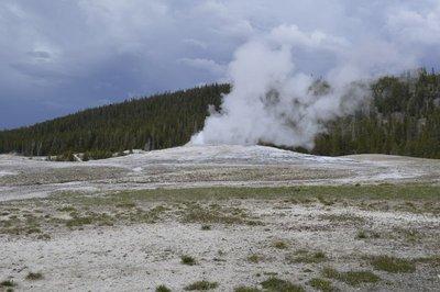 Old Faithful geyser