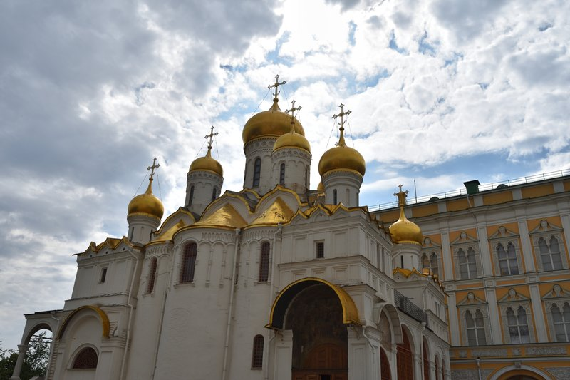 Cathedral of the Annunication.  Built for the Czars for ceremonies.