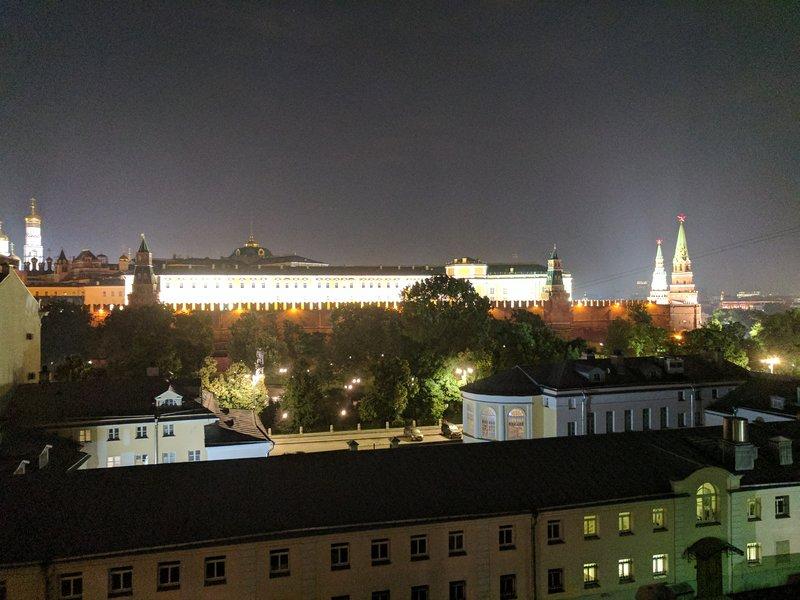 Kremlin at night from my hotel room