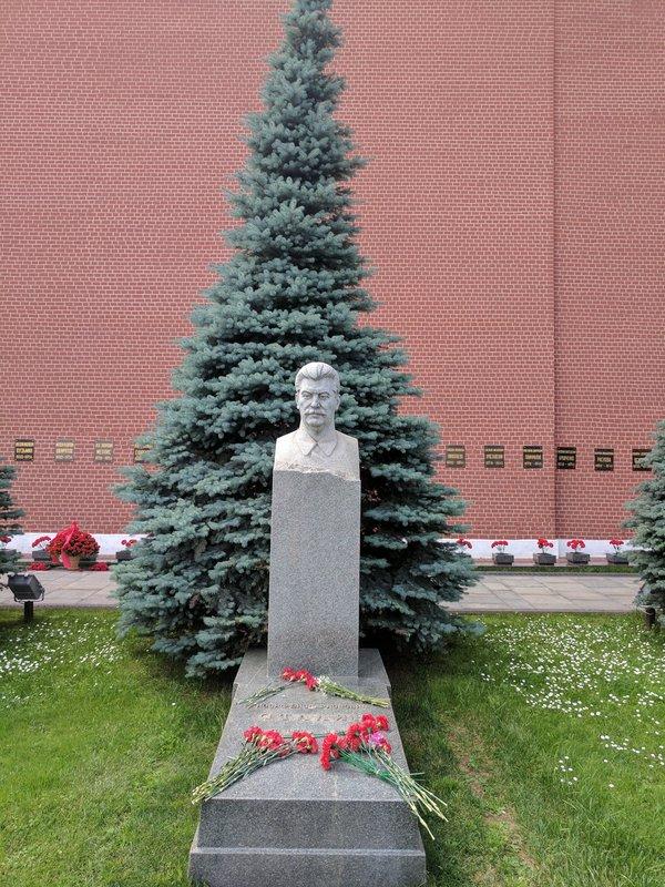 Stalin's grave site close to Lenin's Mausoleum